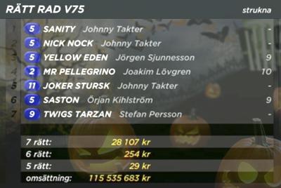 V75 rätta raden
